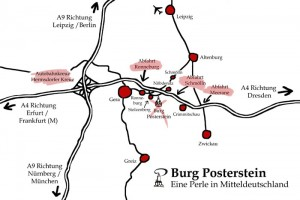 Map: Travelling to Museum Posterstein Castle