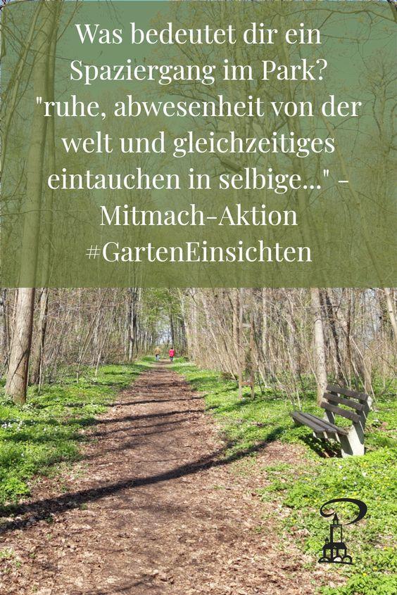 Abwesenheit von der Welt - Mitmach-Aktion #GartenEinsichten