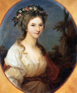 La duchesse Anna Dorothea de Courlande (1761-1821), peintures par Angelika Kauffmann (Museum Burg Posterstein)