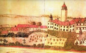 Burg Posterstein im 17. Jahrhundert (Museum Burg Posterstein)