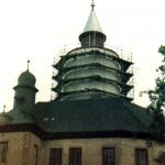 Le château lors de la restauration en 1984 (Museum Burg Posterstein)