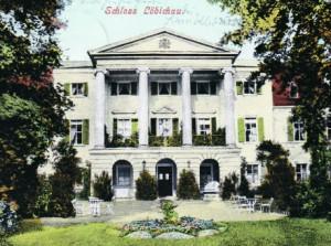 Château Löbichau, carte postale par 1904 (Museum Burg Posterstein)