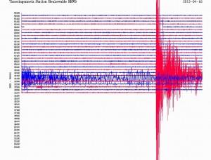 Le tremblement de terre en Iran le 16 avril 2013