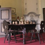 Ancienne salle de la cour du château de Posterstein