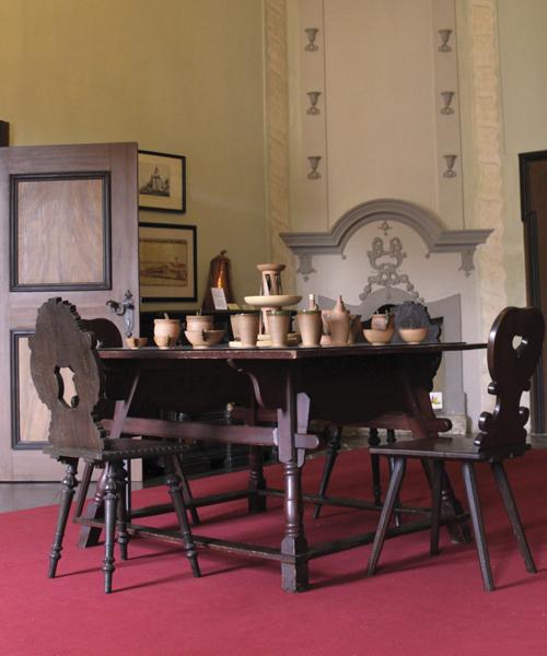 Der Gerichtsraum der Burg Posterstein