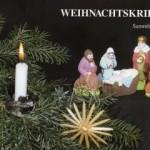 """Katalog """"Weihnachtskrippen - Sammlung Riewe"""" Klaus Hofmann (Museum Burg Posterstein 1995)"""