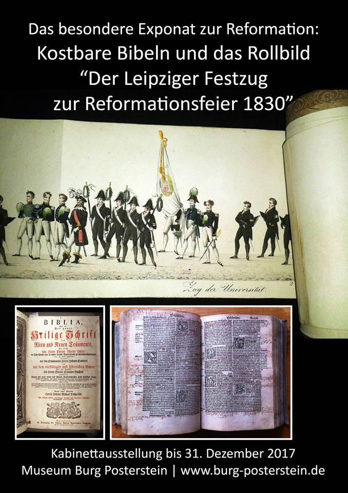 """Das besondere Exponat zur Reformation: Kostbare Bibeln und das Rollbild """"Der Leipziger Festzug zur Reformationsfeier 1830"""""""