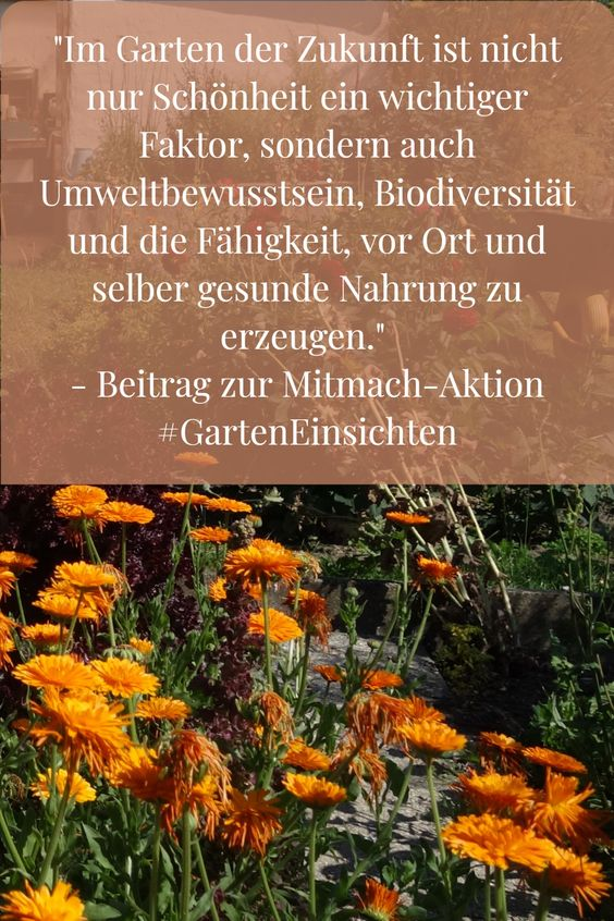 Pin #GartenEinsichten - Im Garten der Zukunft ist nicht nur Schönheit ein Faktor