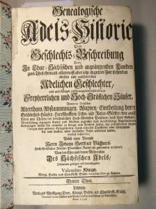 Genealogische Adelshistorie von 1736 (Museum Burg Posterstein)