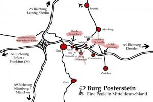 Karte: Anfahrt zum Museum Burg Posterstein