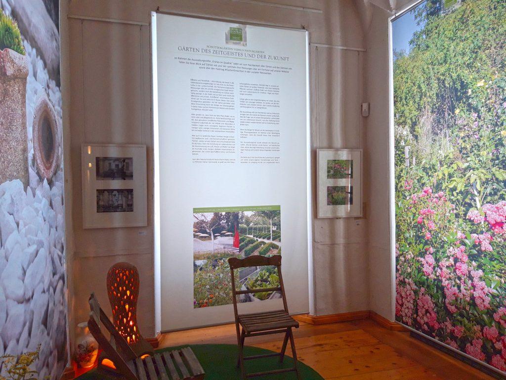 """Blick in die Sonderschau #GartenEinsichten """"Wie der Gärtner, so der Garten"""" im Museum Burg Posterstein"""