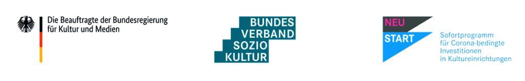 Logoleiste Sofortprogramm für Corona-bedingte Investitionen in Kultureinrichtungen