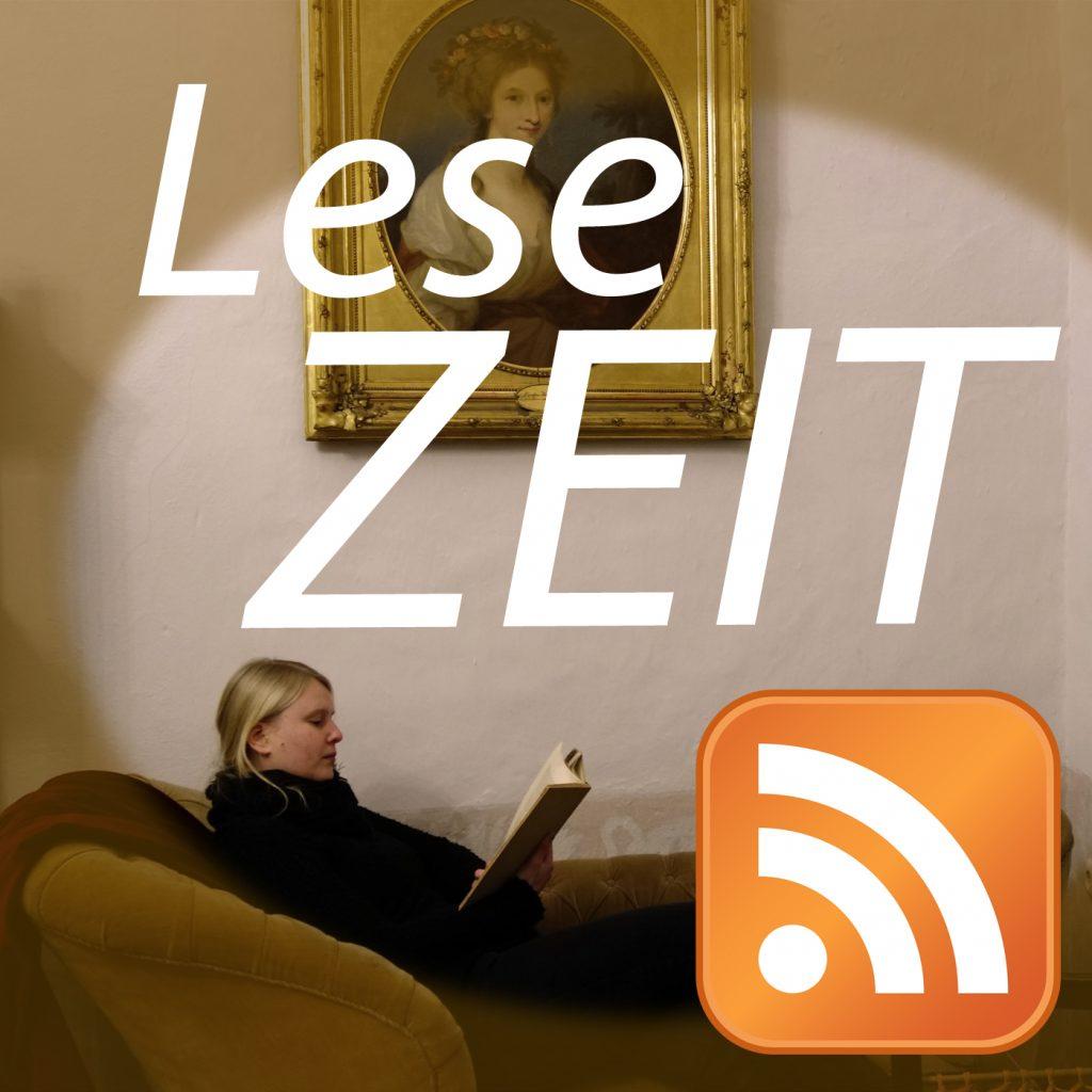 Logo Podcast LeseZEIT - Geschichte und Geschichten auf Burg Posterstein