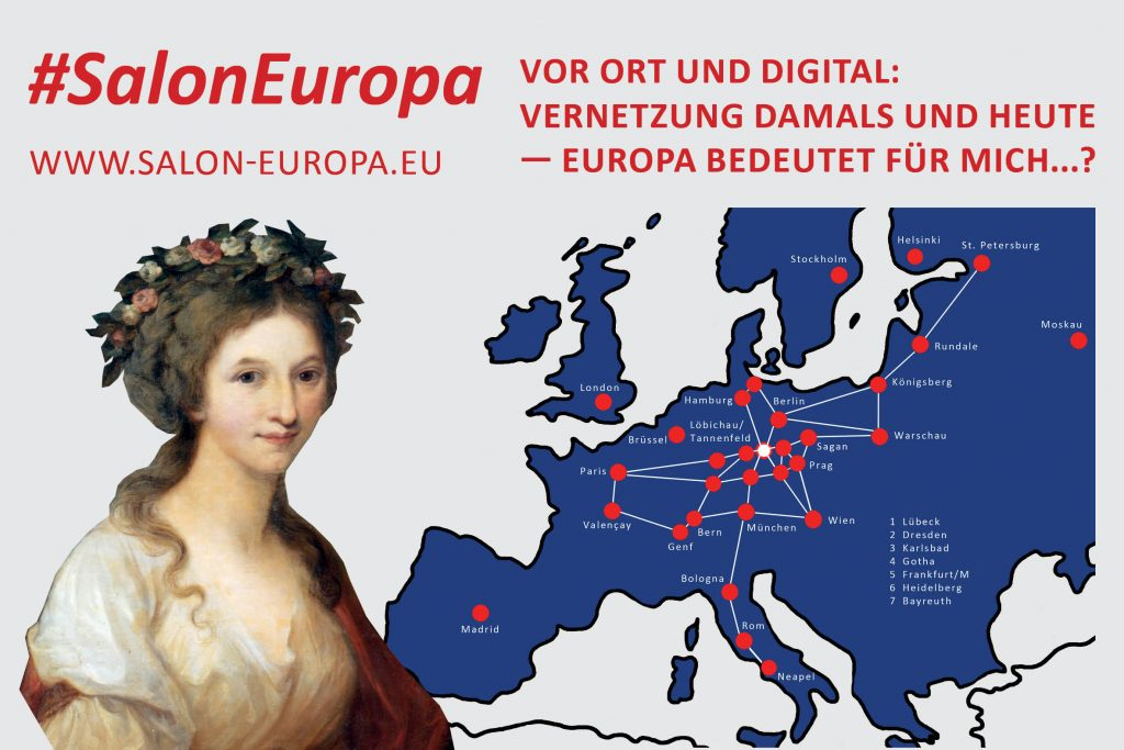 Banner digitale Ausstellung #SalonEuropa Museum Burg Posterstein