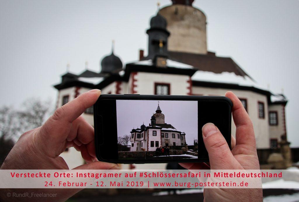 Sonderschau Versteckte Orte: Instagramer auf #Schlössersafari in Mitteldeutschland 2019 im Museum Burg Posterstein