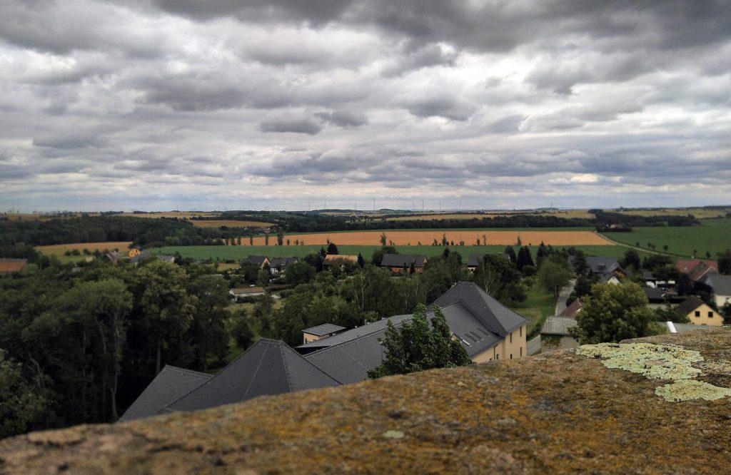 Blick vom Turm der Burg Posterstein
