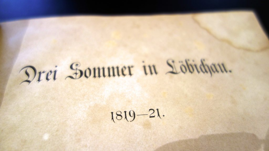 """Emilie von Binzers Erinnerungen """"Drei Sommer in Löbichau"""""""