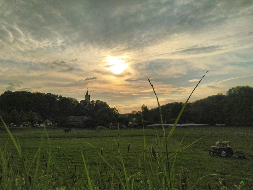 Burg Posterstein im Altenburger Land im Sonnenuntergang