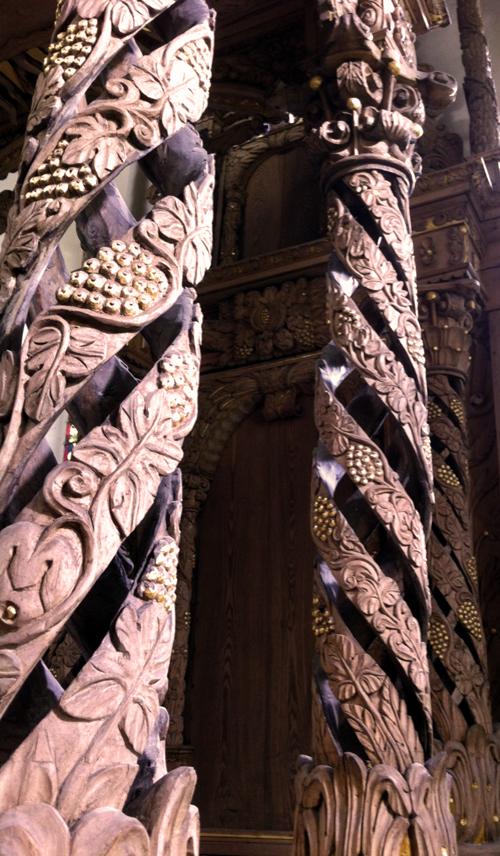 Die Hohlsäulen in der Burgkirche Posterstein sind kunstgeschichtlich einmalig (Foto: Museum Burg Posterstein)