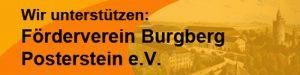 """Button """"Wir unterstützen den Förderverein Burgberg Posterstein e.V."""""""