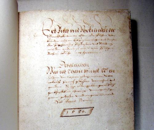 Das Erbbuch der Familie Pflugk aus dem Jahr 1550 gibt genaue Auskunft über die Zins- und Fronverhältnisse (Bild: Museum Burg Posterstein)