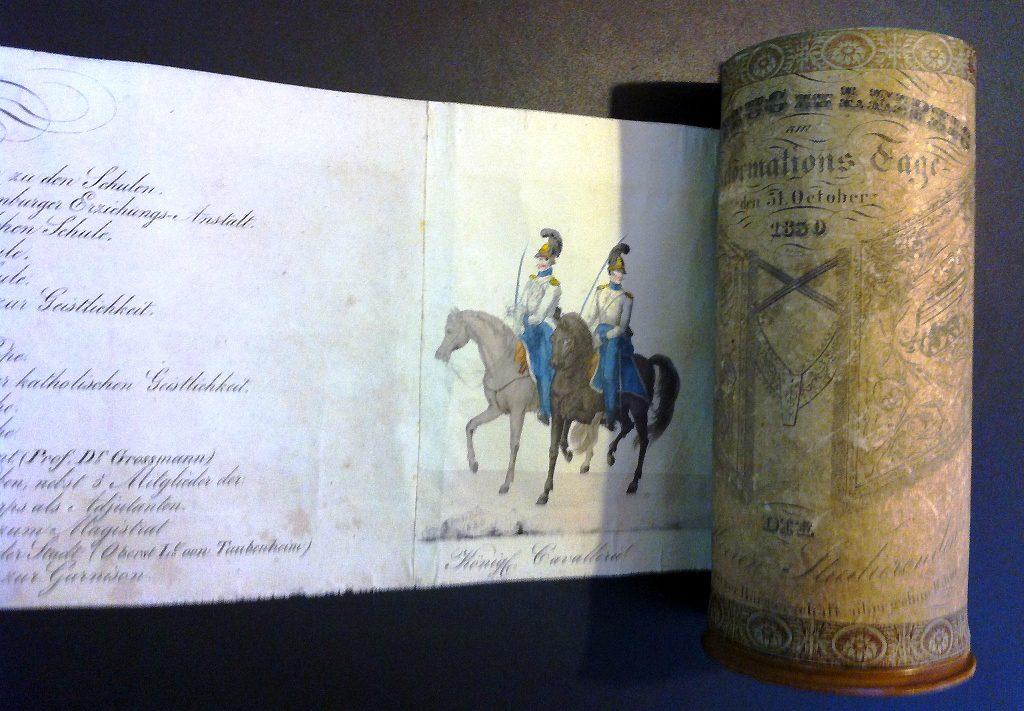Rollbild Festumzug zur Reformation - Sammlung Museum Burg Posterstein