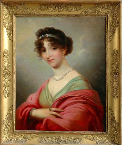 Gemälde von Herzogin Anna Dorothea von Kurland nach Grassi (Museum Burg Posterstein)