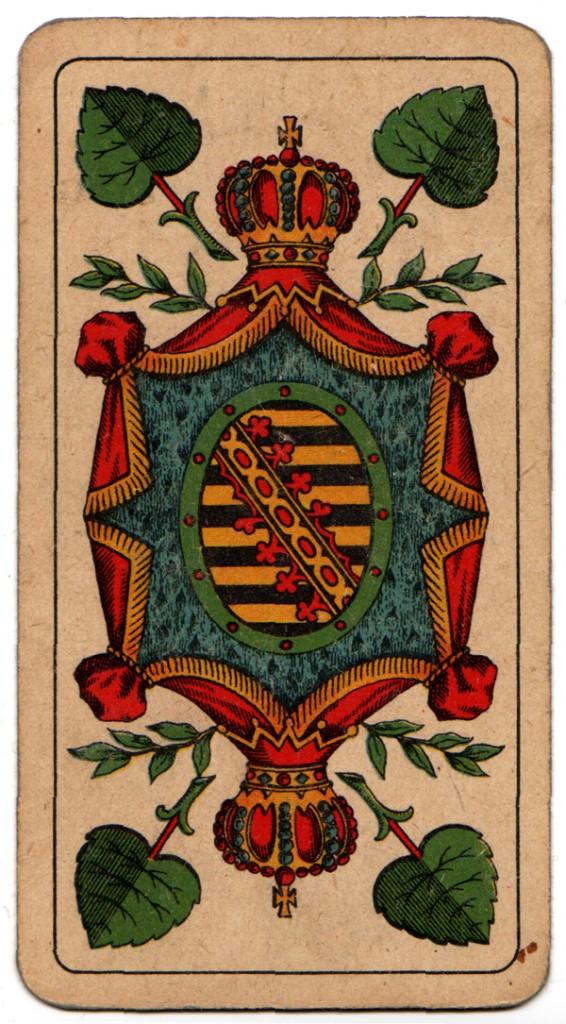 Grün-Ass aus Altenburger Spielkarten (Foto: Museum Burg Posterstein)