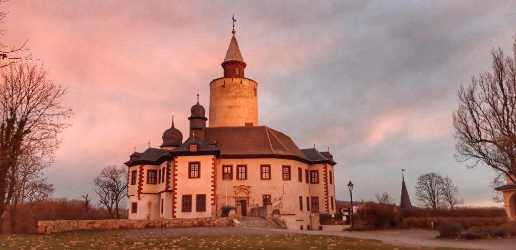 Burg Posterstein im Sonnenaufgang