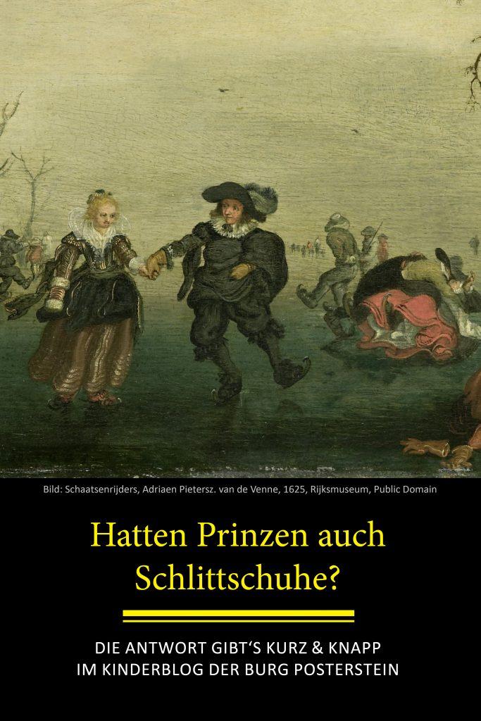 Hatten Prinzen Schlittschuhe? - Eine Frage, die im Kinderburg-Blog der Burg Posterstein beantwortet wird.