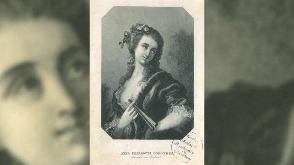 Portrait der Herzogin Anna Dorothea von Kurland aus der Sammlung des Museums Burg Posterstein