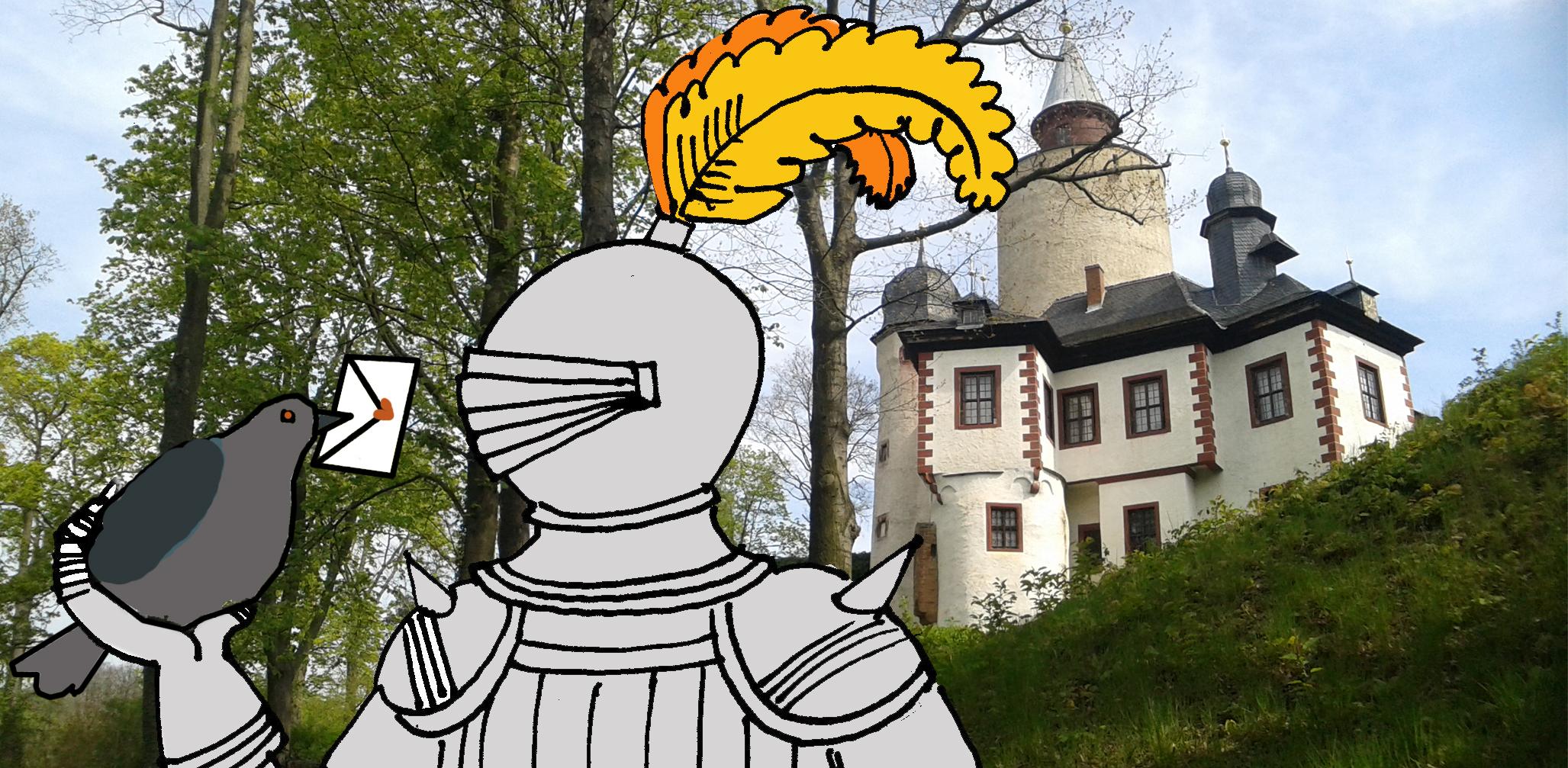 Sommerferien auf Burg Posterstein: Post in früheren Zeiten und historische Spiele auf dem Burghof