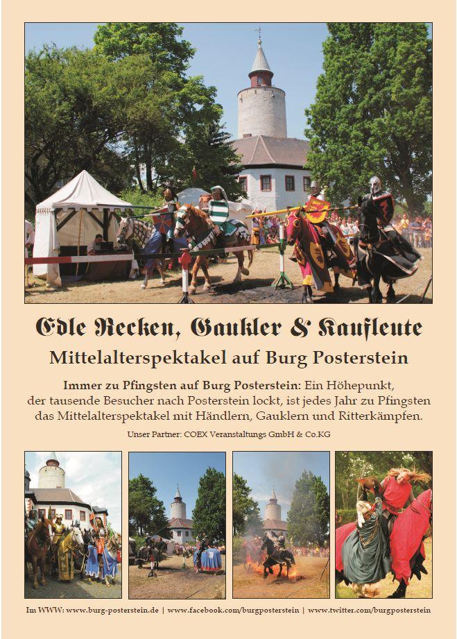 10. Ritterturnier und Mittelalterspektakel auf Burg Posterstein