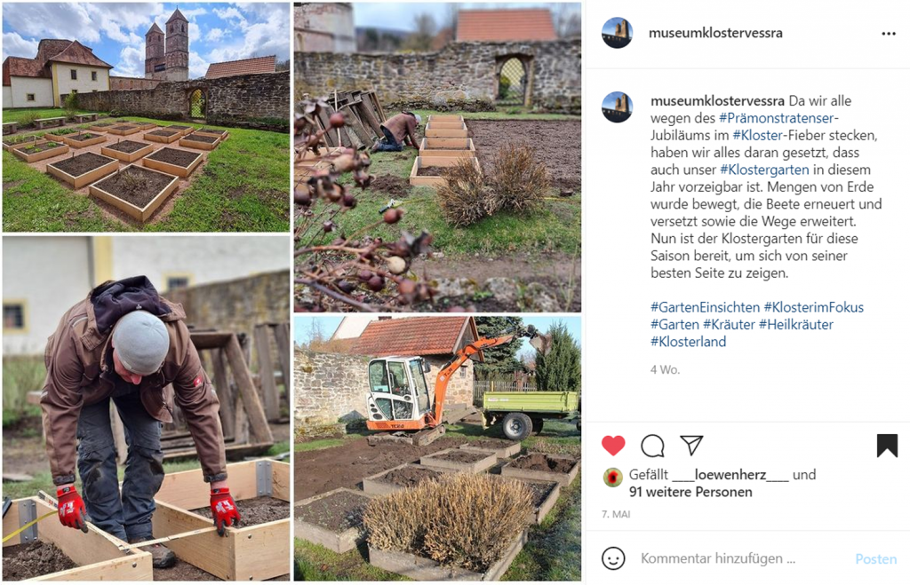 Screenshot Instagram-Post Kloster Veßra