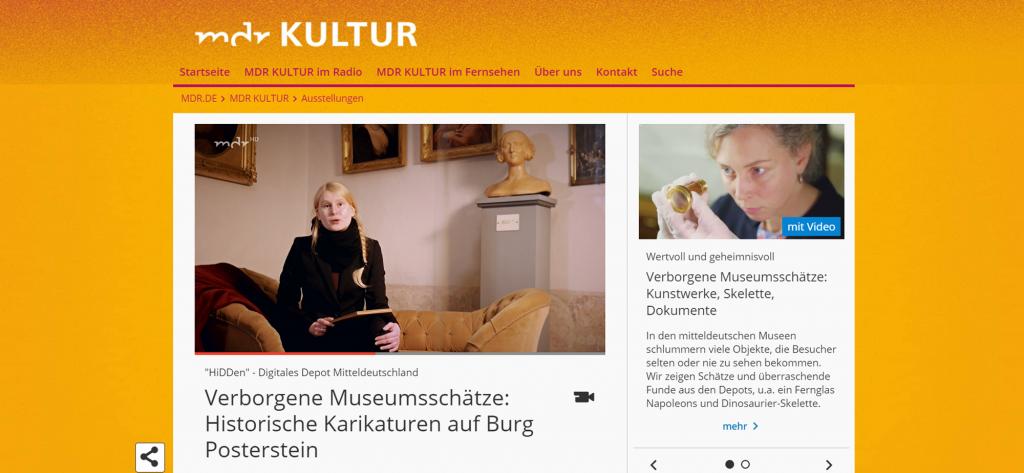 Screenshot MDR Kultur Verborgene Museumsschätze