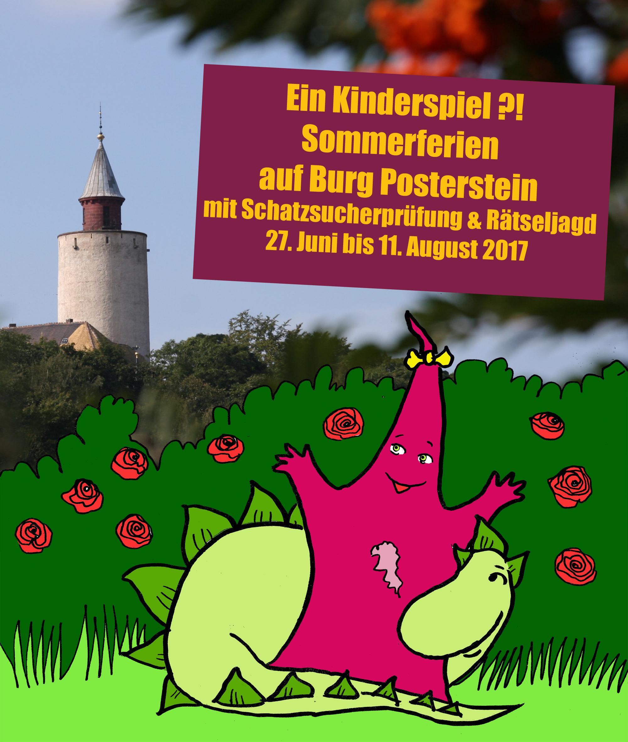 Ein Kinderspiel?! Sommerferien auf Burg Posterstein mit Schatzsucher-Prüfung und Rätseljagd