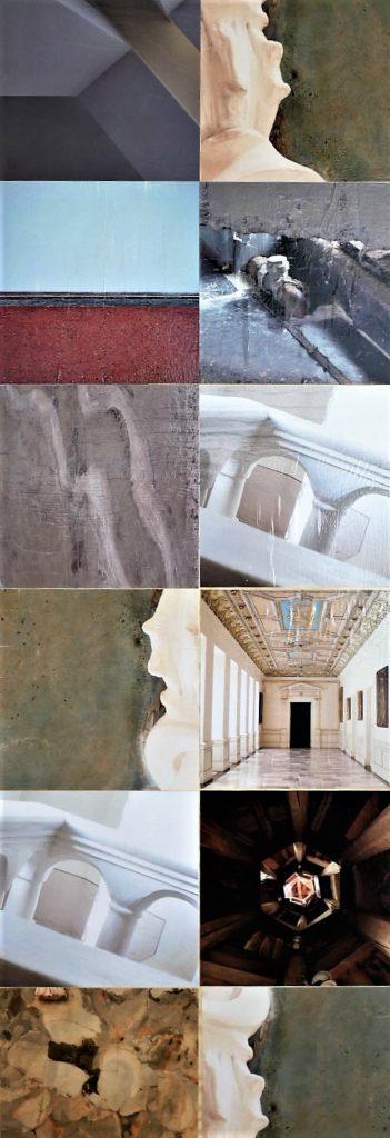 """Die Fotografien auf Seite 2 der Skulptur """"Postersteiner Stele"""" von Wolfgang Stöcker"""