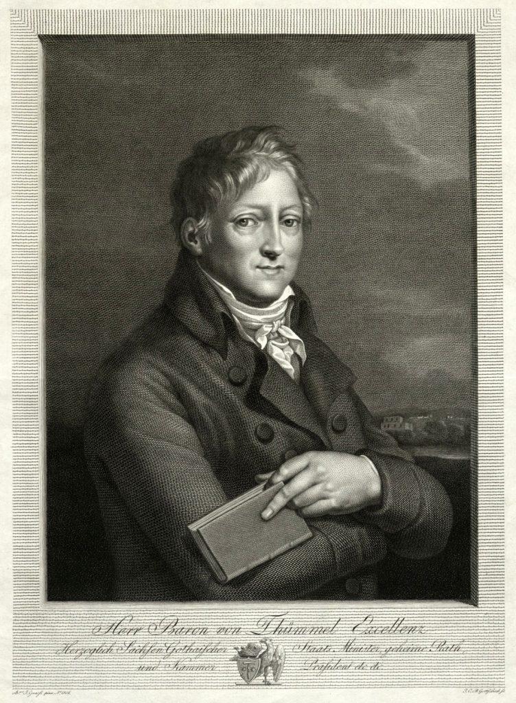 Portrait Hans Wilhelm von Thümmel, Kupferstich von Gottschick nach Joseph Grassi, Museum Burg Posterstein