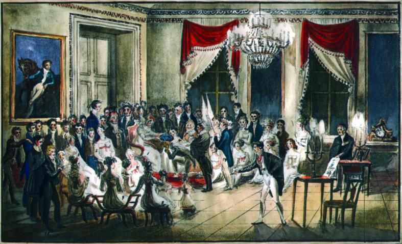 Der Maler Ernst Welker im Salon der Herzogin von Kurland