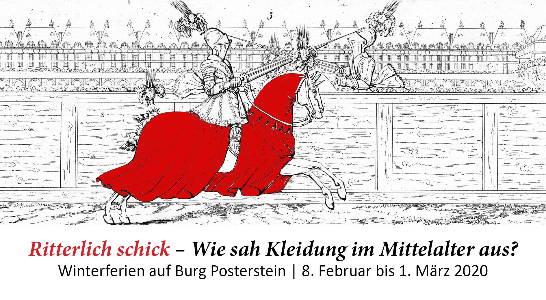 Winterferien auf Burg Posterstein: Ritterlich schick – Wie sah Kleidung im Mittelalter aus?