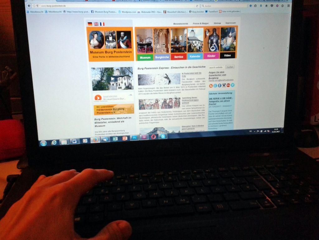 Kulturvermittelung muss nicht nur vor Ort im Museum stattfinden - die Website ist eine wichtige Basis für weitergehende Informationen.